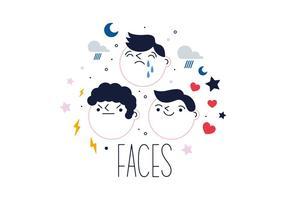 Vetor de rostos livres