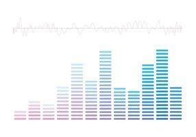 Gráficos de barras de som do vetor