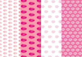 Padrões de vetores de lábios grátis