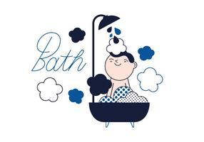 Vetor de banho grátis