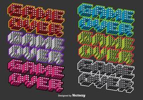 Jogo colorido 3D sobre mensagens de vetores