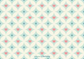 Padrão de vetor de corações geométricos