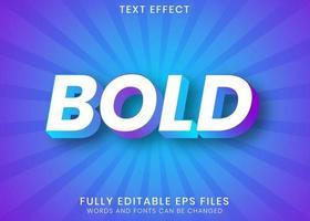 negrito branco com efeito de texto gradiente roxo azul vetor