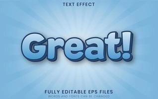 grande efeito de texto azul 3d vetor