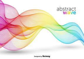 Vector de onda abstrato colorido