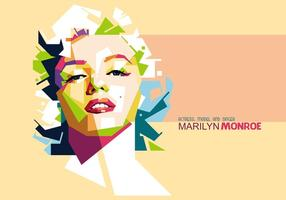 Marilyn monroe portrait vector