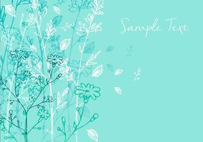 Projeto de fundo floral vetor