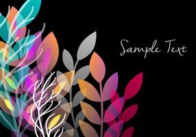 Design decorativo de fundo floral vetor