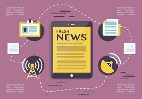 Jornalismo gratuito imprensa vetor backround
