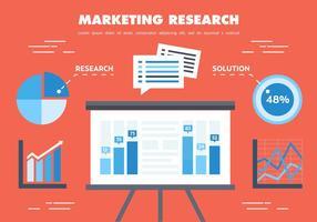 Vetor de pesquisa de marketing plano gratuito
