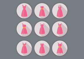 Vetores de vestido da dama de honra