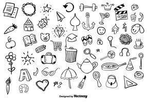 Enorme pacote de vetores de Doodle