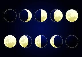 Ilustração vetorial da fase da lua vetor