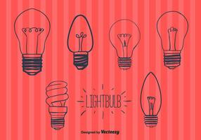 Vetor de lâmpadas