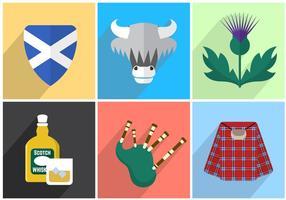 Ilustrações vetoriais da Escócia vetor