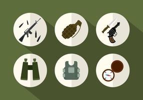 Ícones do vetor do exército