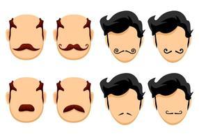 Vetores felizes de Movember