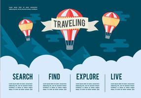 Ilustração de vetor de viagens grátis