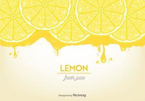 Vetor de fundo de suco de limão