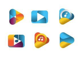 conjunto de símbolos do media player