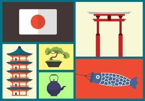 Ícones vetoriais japoneses vetor