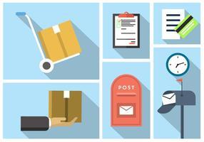 Elementos do vetor postal