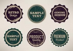Free Vector Vintage Style Badges Com Grunge Erodido