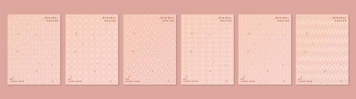 conjunto de capa padrão retro rosa