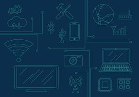 Ilustrações de elementos de tecnologia vetorial