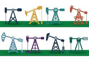 Vetor campo de petróleo