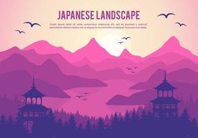 Ilustração vetorial japonesa bonita e gratuita vetor