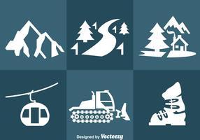 Vetor de ícones do recurso de neve