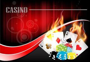 Vetor de fundo do casino