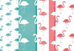 Padrões livres de flamingo de vetores