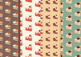 Padrões de vetores de shortcake grátis