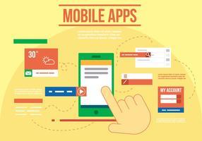 Vector gratuito de aplicativos para dispositivos móveis
