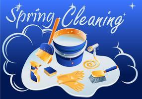 Vetor de limpeza de primavera brilhante