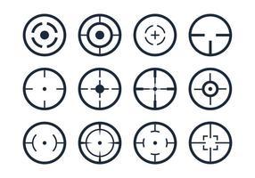Ícones do vetor do visor Crosshair