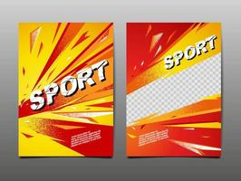 banner dinâmico de esporte de estilo grunge vetor
