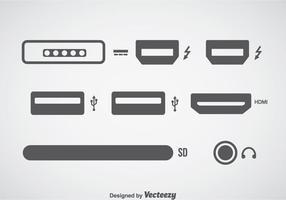 Conjuntos de ícones de conexão de computador vetor