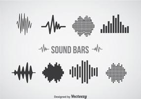 Conjuntos de ícones de barras de som vetor