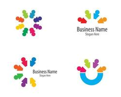 conjunto de logotipo circular da comunidade vetor