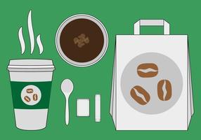 Vetor da ilustração da luva do café