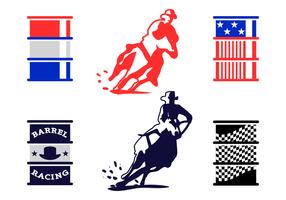 Vetor de corrida de barril livre