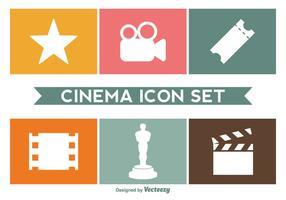 Conjunto de vetores de ícones de cinema