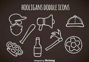 Ícones Doddle dos Hooligans vetor