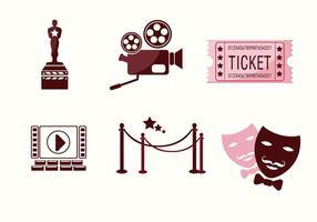 Vector de ícones da cinematografia