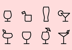Vetor de ícones de bebidas grátis