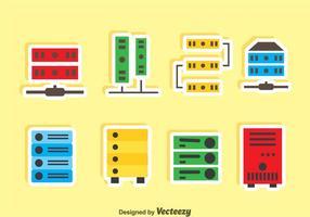 Vetor dos ícones do rack do servidor