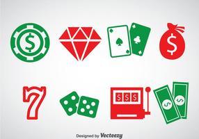 Vetor de ícones do casino royale ellement
